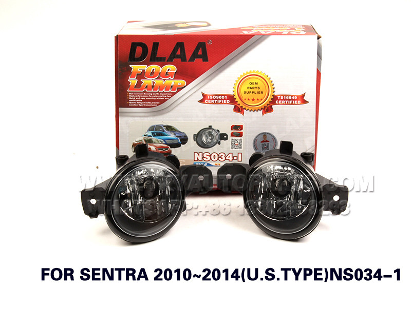 DLAA  Fog Lights Set Bumper Lamp FOR SENTRA 2010~2014(U.S.TYPE)NS034-1