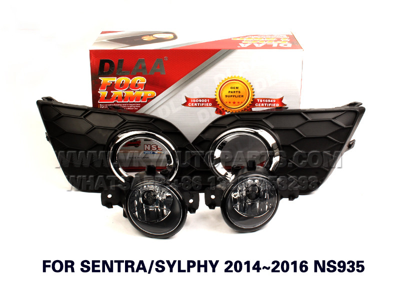 DLAA  Fog Lights Set Bumper Lamp FOR SENTRA SYLPHY 2014~2016 NS935