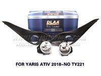 DLAA  Fog Lights Set Bumper Lamp FOR YARIS ATIV 2018~NO TY221