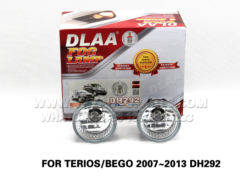 DLAA  Fog Lights Set Bumper Lamp FOR TERIOS BEGO 2007~2013 DH292 H8 12V35W