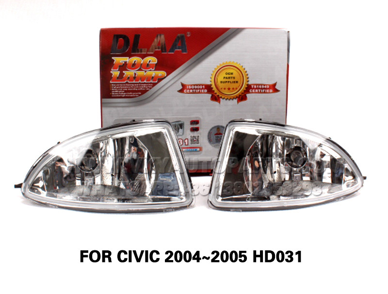 DLAA  Fog Lights Set Bumper Lamp FOR CIVIC 2004~2005 HD031