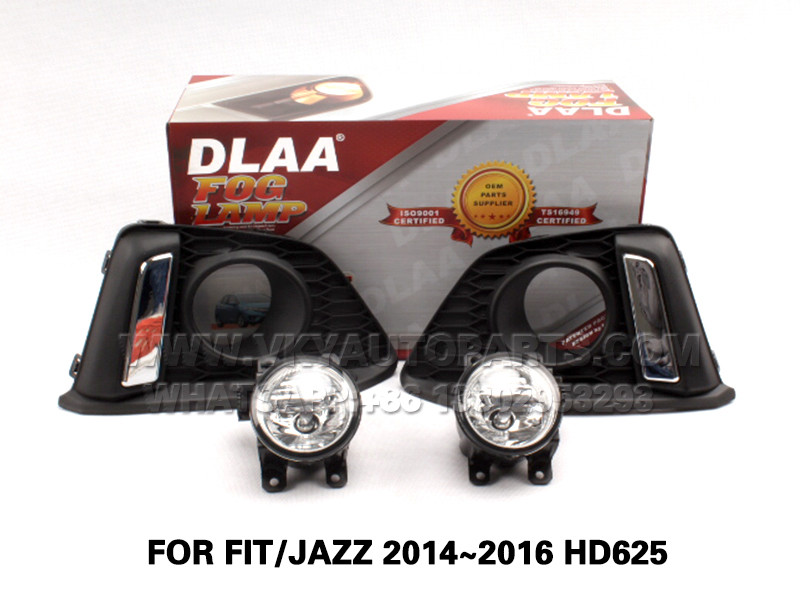 DLAA  Fog Lights Set Bumper Lamp FOR FIT JAZZ 2014~2016 HD625