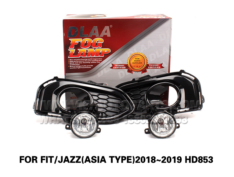 DLAA  Fog Lights Set Bumper Lamp FOR FIT JAZZ(ASIA TYPE)2018~2019 HD853