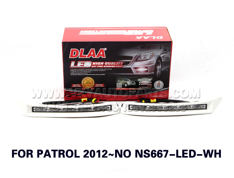 DLAA  Fog Lights Set Bumper Lamp FOR PATROL 2012~NO NS667-LED-WH