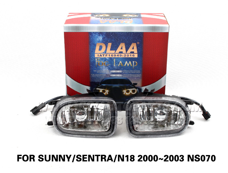 DLAA Fog Lights Set Bumper Lamp FOR SUNNY SENTRA N18 2000~2003 NS070