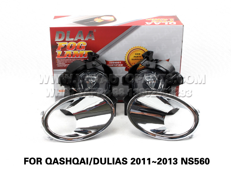 DLAA  Fog Lights Set Bumper Lamp FOR QASHQAI DULIAS 2011~2013 NS560