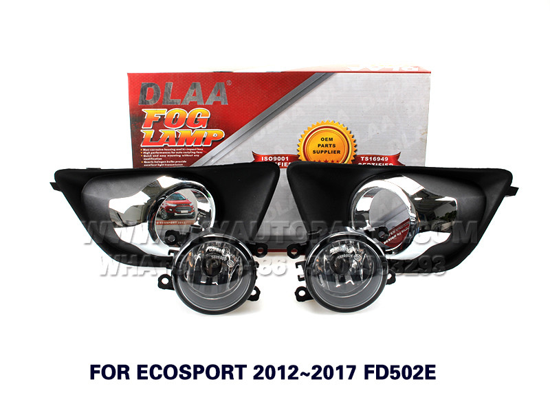 DLAA  Fog Lights Set Bumper Lamp FOR ECOSPORT 2012~2017 FD502E