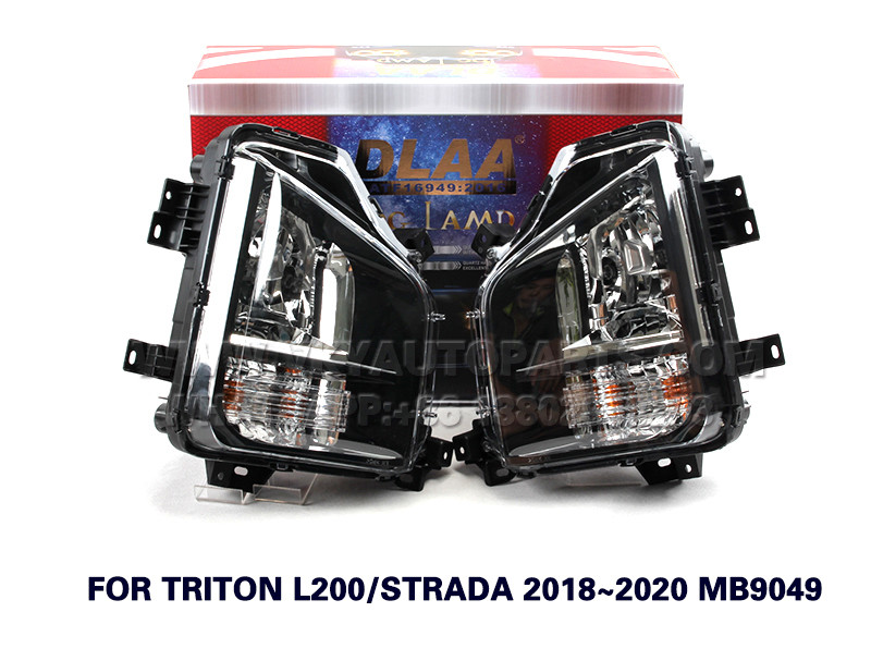 DLAA  Fog Lights Set Bumper Lamp FOR TRITON L200 STRADA 2018~2020 MB9049