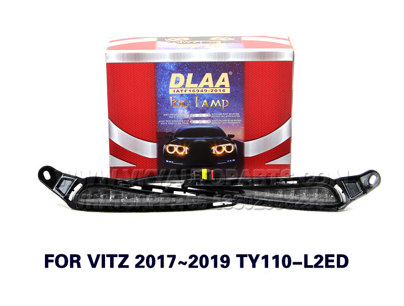 DLAA  Fog Lights Set Bumper Lamp FOR VITZ 2017~2019 TY110-L2ED