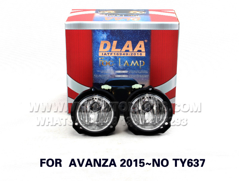 DLAA Fog Lights Set Bumper Lamp FOR  AVANZA 2015~NO TY637