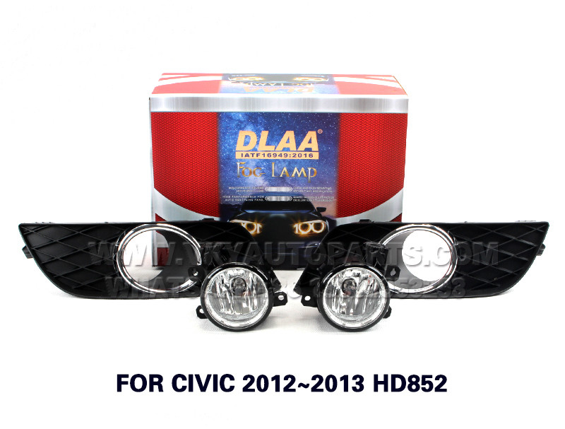DLAA Fog Lights Set Bumper Lamp FOR CIVIC 2012~2013 HD852