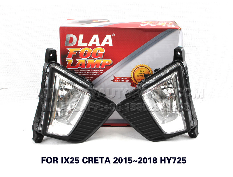 DLAA  Fog Lights Set Bumper Lamp FOR IX25 CRETA 2015~2018 HY725