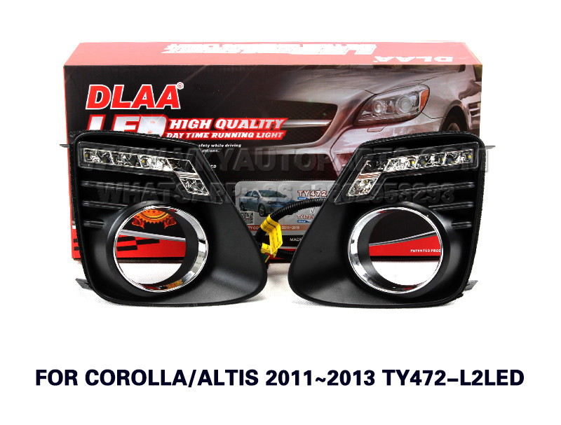 DLAA  Fog Lights Set Bumper Lamp FOR COROLLA ALTIS 2011~2013 TY472-L2LED