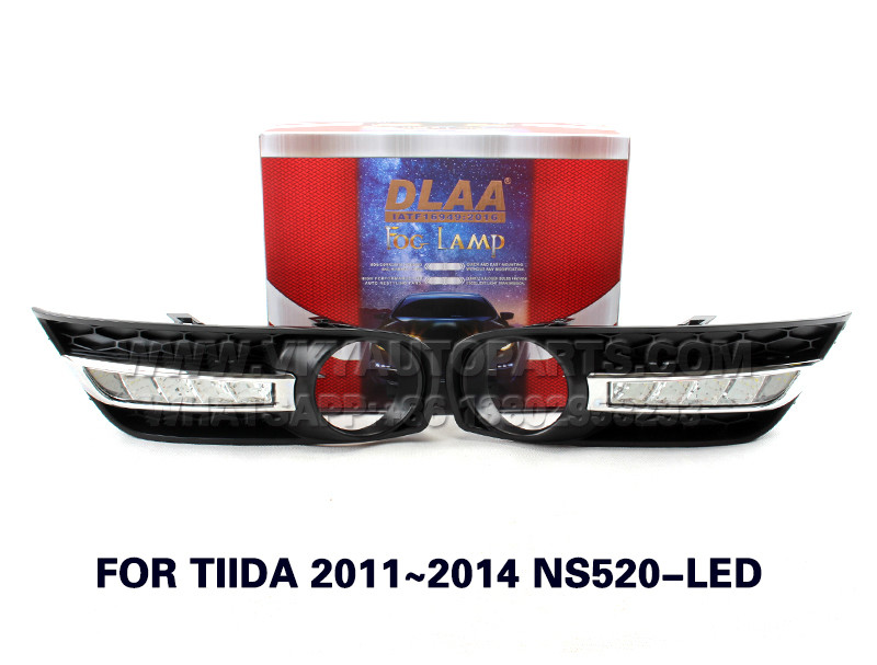 DLAA Fog Lamp Set Bumper Light with WIREHARNESS FORTIIDA2011~2014NS520-LED