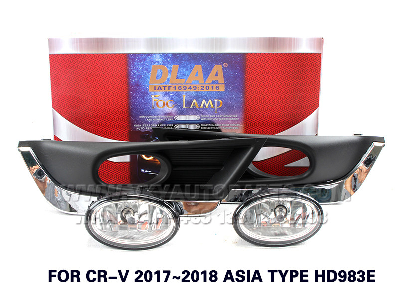 DLAA Fog Lights Set Bumper Lamp FOR CR-V 2017~2018 ASIA TYPE HD983E