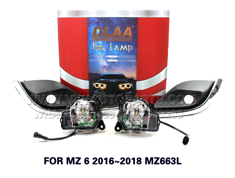 DLAA  Fog Lights Set Bumper Lamp FOR MZ 6 2016~2018 MZ663L