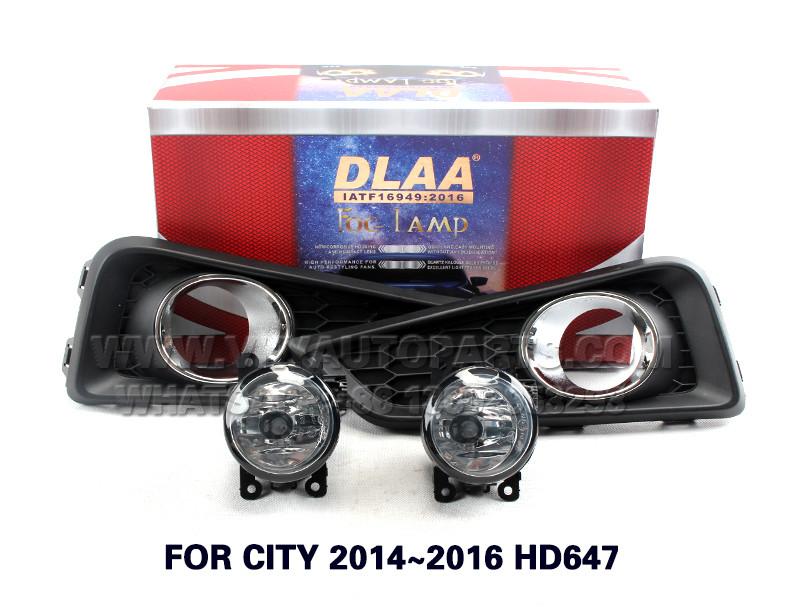 DLAA  Fog Lamp Set Bumper Lamp FOR CITY 2014~2016 HD647