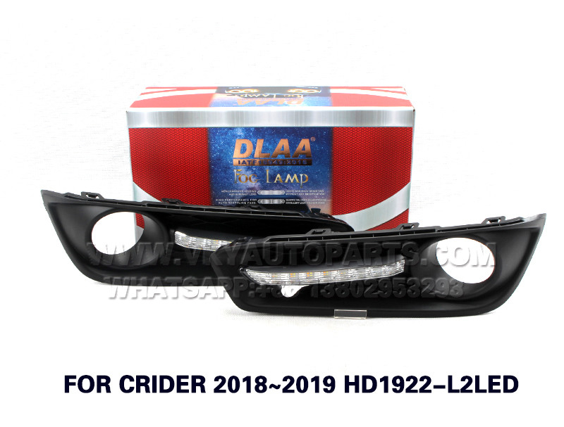 DLAA  Fog Lamp Set Bumper Lamp FOR CRIDER 2018~2019 HD1922-L2LED