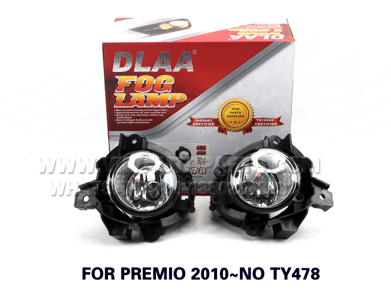 DLAA Fog Lamp Set Bumper Lamp FOR PREMIO 2010~NO TY478