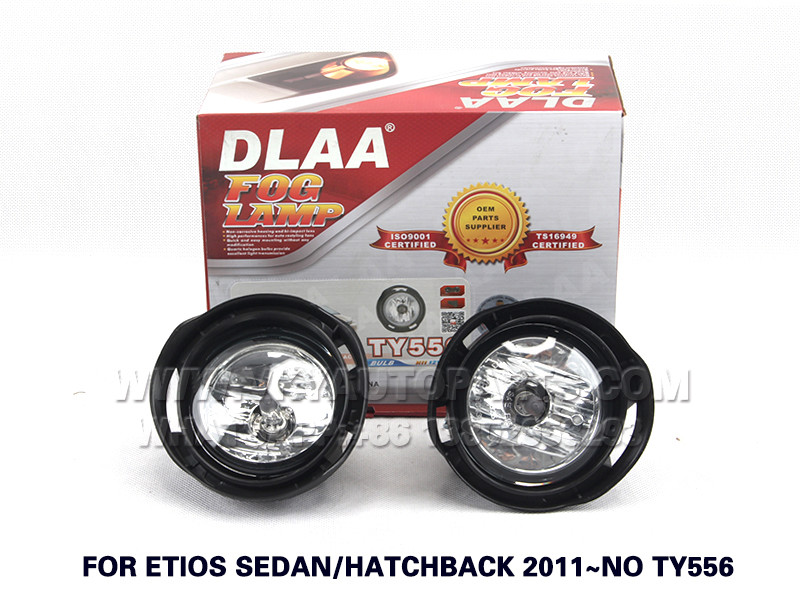 DLAA  Fog Lights Set Bumper Lamp With FOR ETIOS SEDAN HATCHBACK 2011~NO TY556