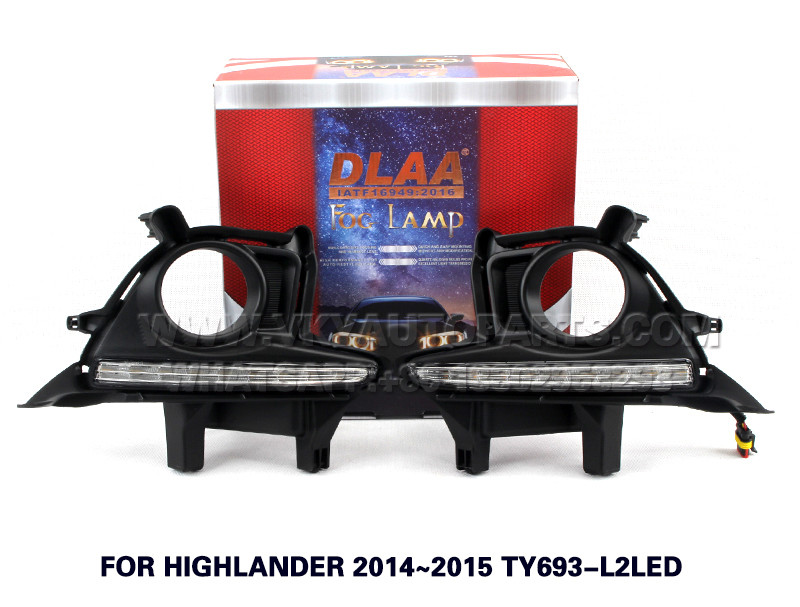 DLAA  Fog Lights Set Bumper Lamp With LED FOR HIGHLANDER 2014~2015 TY693-L2LED