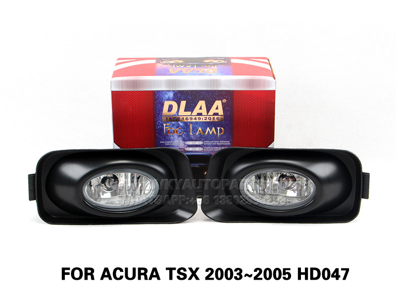 DLAA  Fog Lights Set Bumper Lamp With FOR ACURA TSX 2003~2005 HD047