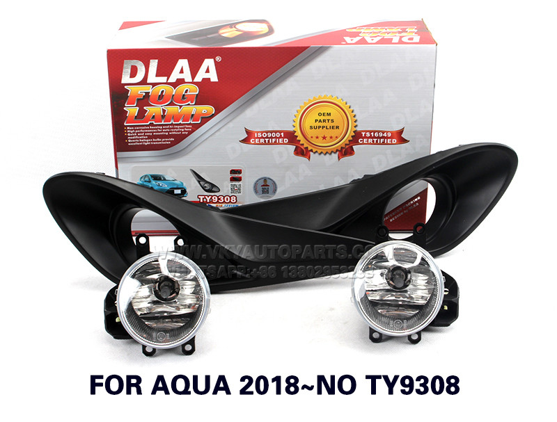 DLAA  Fog Lights Set Bumper Lamp With FOR AQUA 2018~NO TY9308
