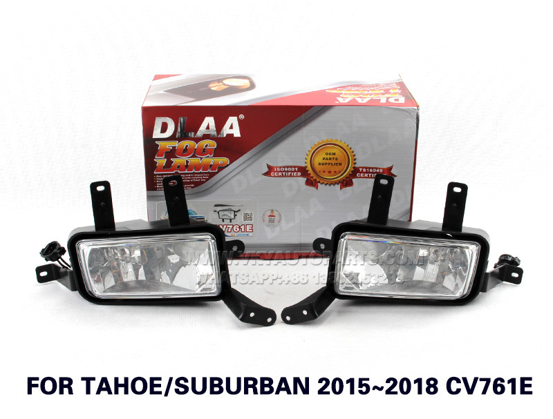 DLAA  Fog Lights Set Bumper Lamp With FOR TAHOE SUBURBAN 2015~2018 CV761E