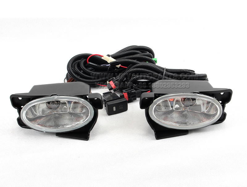 DLAA  Fog Lights front Set Bumper Lamp With wire FOR JAZZ FIT 2011~2013 HD435