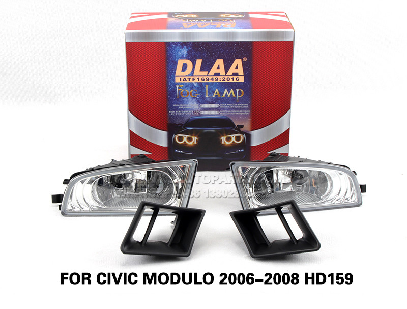 DLAA  Fog Lights Set Bumper Lamp With FOR CIVIC MODULO 2006-2008 HD159