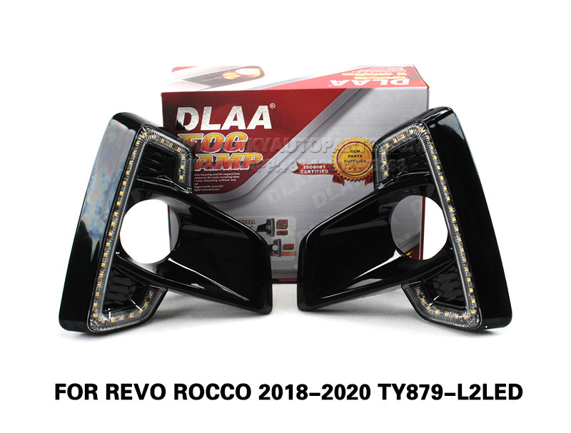 DLAA  Fog Lights Set Bumper Lamp With LED FOR REVO ROCCO 2018-2020 TY879-L2LED