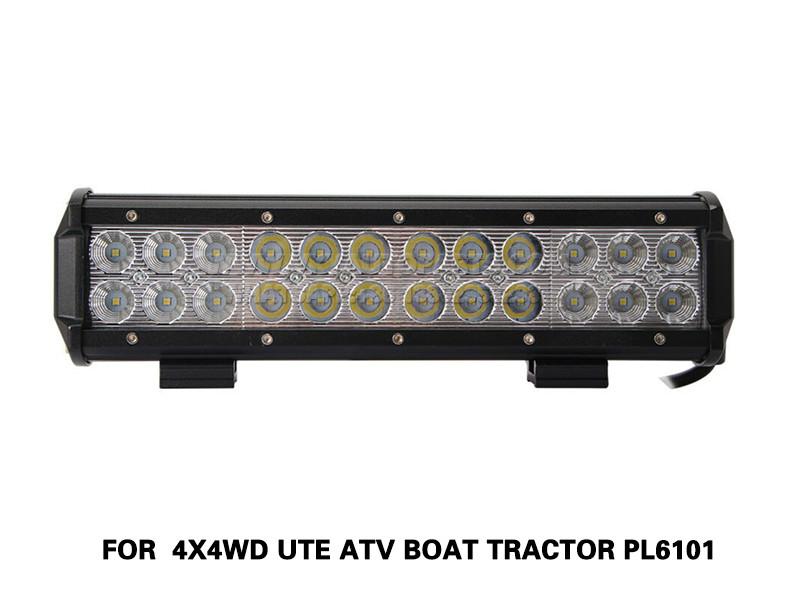 DLAA 72W Led Light Bar Flood Spot Combo Beam FOR 4X4WD UTE ATV Boat Tractor PL6101