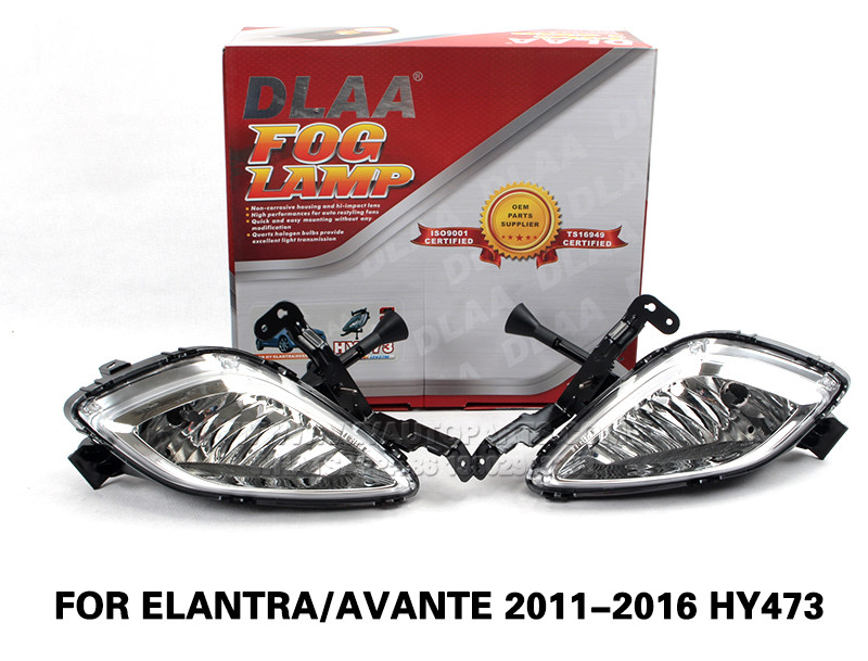 DLAA  Fog Lamp Set Bumper Lamp FOR ELANTRA AVANTE 2011-2016 HY473