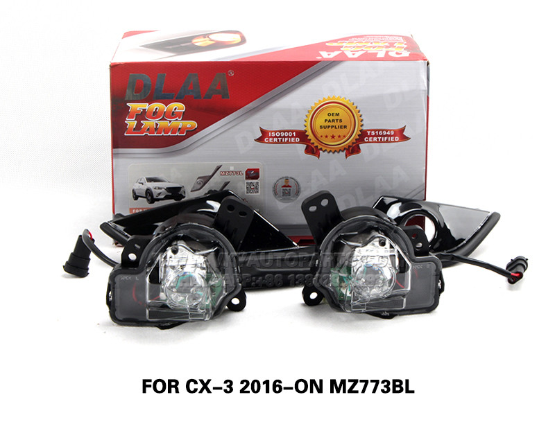 DLAA Complete Fog Lamp Set Bumper Lamp For CX-3 2016-2018 MZ773BL