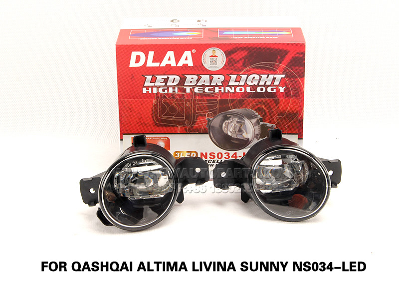 DLAA  Fog Lamps front Set Bumper Lights with wire FOR QASHQAI ALTIMA LIVINA SUNNY NS034-LED