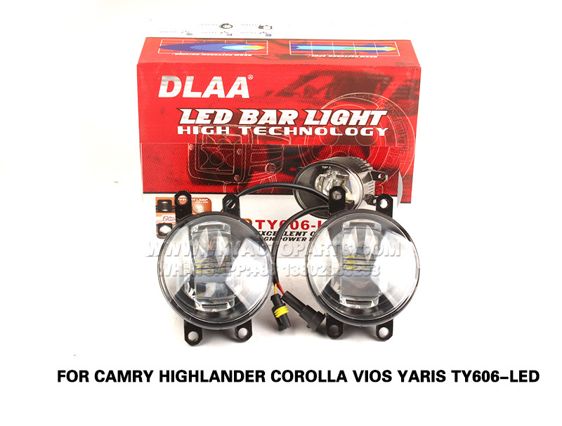DLAA  Fog Lamps Set Bumper Lights with wire FOR Camry Highlander Corolla Vios Yaris TY606-LED
