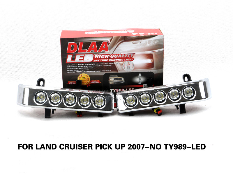 DLAA Led Fog Lamps Set Bumper Lights with wire FOR LAND CRUISER PICK UP 2007-NO TY989-LED