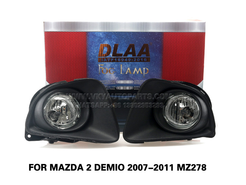 DLAA Fog LampsSet Bumper Lights withwire FOR Mazda 2 DEMIO 2007-2011 MZ278