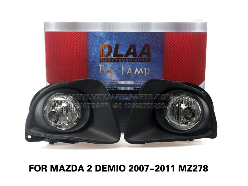 DLAA Fog LampsSet Bumper Lights withwire FOR Mazda 2 DEMIO 2007-2011 MZ278