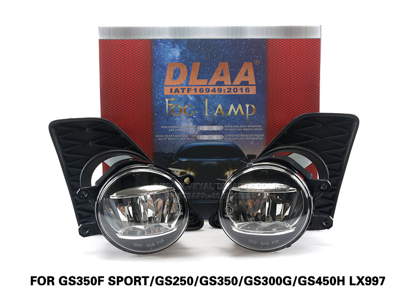 DLAA Led FogLamps Set Bumper Lights withwire FOR GS350F SPORT GS250 GS350 GS300G GS450H LX997