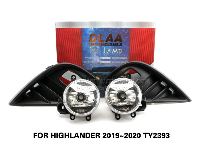 DLAA  Fog Lamps Set Bumper Lights withwire FOR HIGHLANDER 2019~2020 TY2393