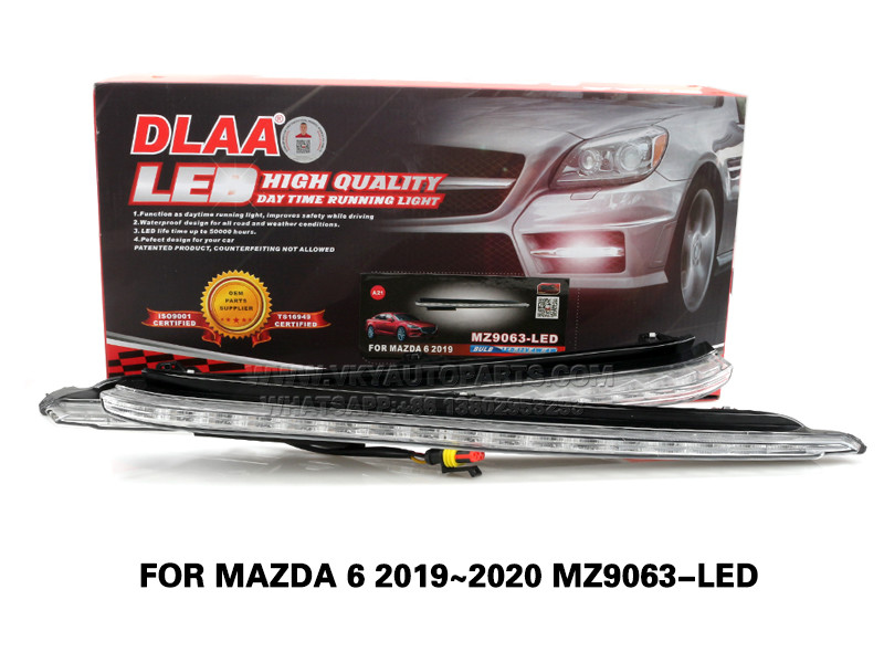 DLAA LED Fog Lamps Set Bumper Lights withwire FOR MAZDA 6 2019~2020 MZ9063-LED