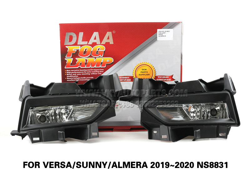 DLAA Fog Lamps Set Bumper Lights withwire FOR VERSA SUNNY ALMERA 2019~2020 NS8831
