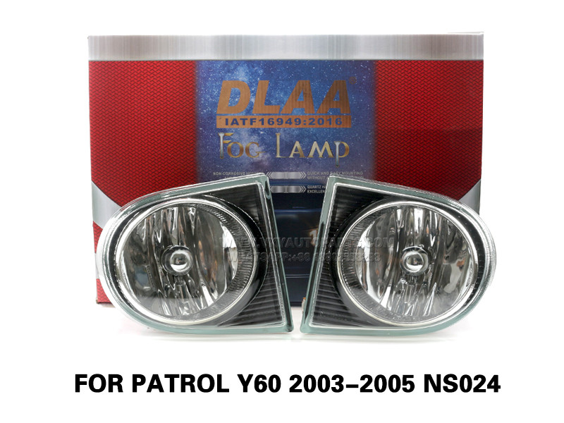 DLAA Fog Lamps Set Bumper Lights withwire FOR PATROL Y60 2003-2005 NS024