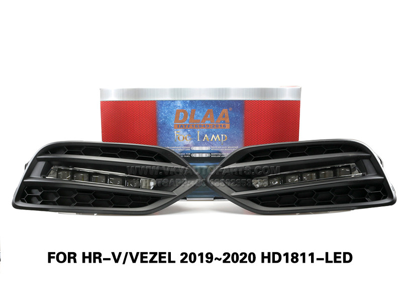 DLAA LED Fog Lamps Set Bumper Lights withwire  FOR HR-V VEZEL 2019~2020 HD1811-LED