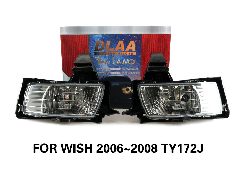 DLAA Fog Lamps Set Bumper Lights withwire FOR WISH 2006~2008 TY172J