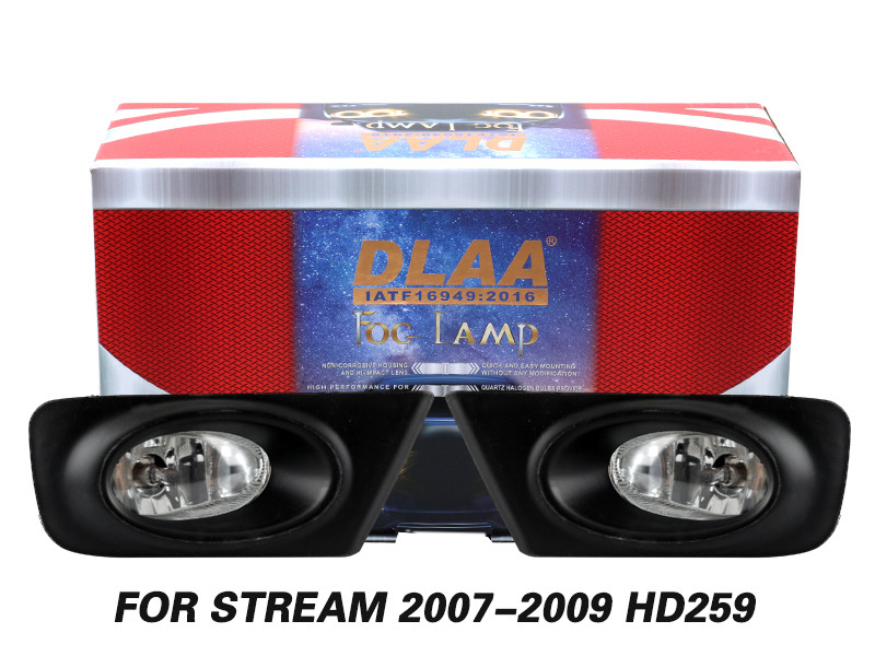 DLAA Fog Lamps Set Bumper Lights withwire FOR STREAM 2007-2009 HD259