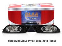 DLAA Fog Lamps Set Bumper Lights withwire FOR CIVIC (ASIA TYPE ) 2012-2014 HD552