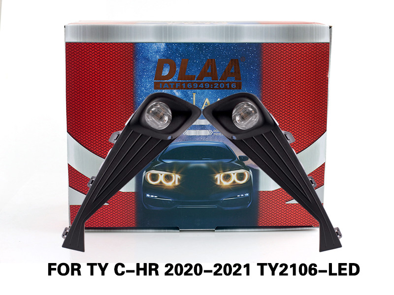 DLAA Fog Lamps Set Bumper Lights withwire FOR TY C-HR 2020-2021 TY2106-LED
