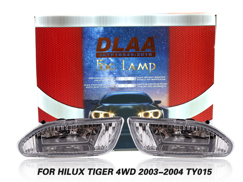 DLAA Fog Lamps Set Bumper Lights withwire FOR HILUX TIGER 4WD 2003-2004 TY015